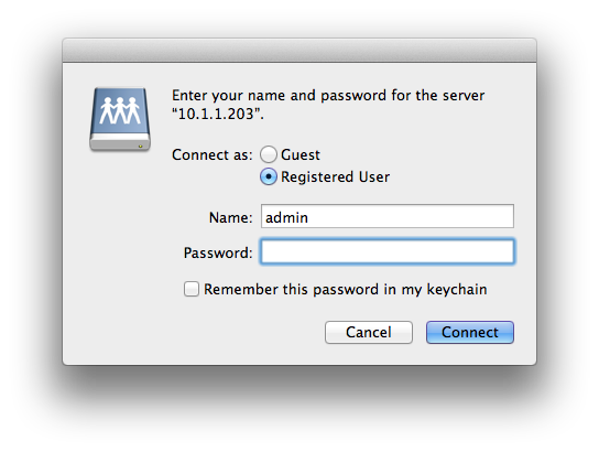 Apple Mac Login Dialog