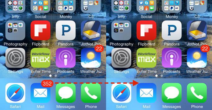 Apple iPhone App Badges